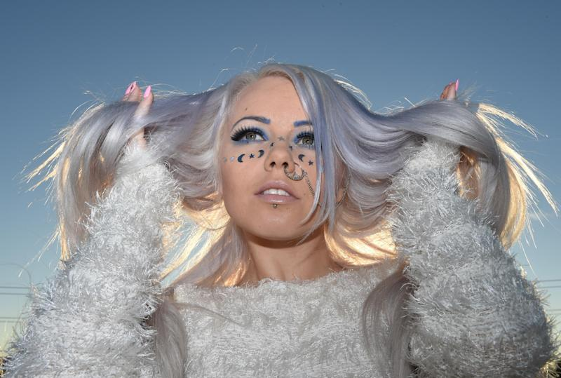 Kerli's buoyant electronica and quirky costumes - reminiscent of Iceland's Bjork - grabbed attention in dance music circles with her 2008 debut album, 'Love Is Dead' (AFP Photo/Mark Ralston)