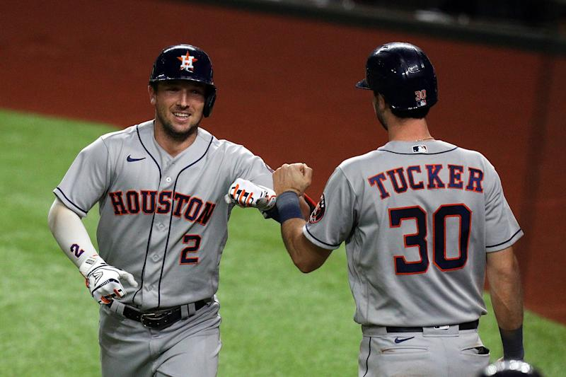 The Astros are back in the postseason, clinching the second-place spot in the AL West. (Photo by Richard Rodriguez/Getty Images)