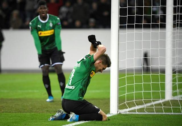 Borussia Moenchengladbach were stunned at home (AFP Photo/INA FASSBENDER)