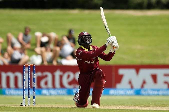 Kimani Melius in action during the 2020 Under-19 World Cup (Image credits: windiescricket.com)