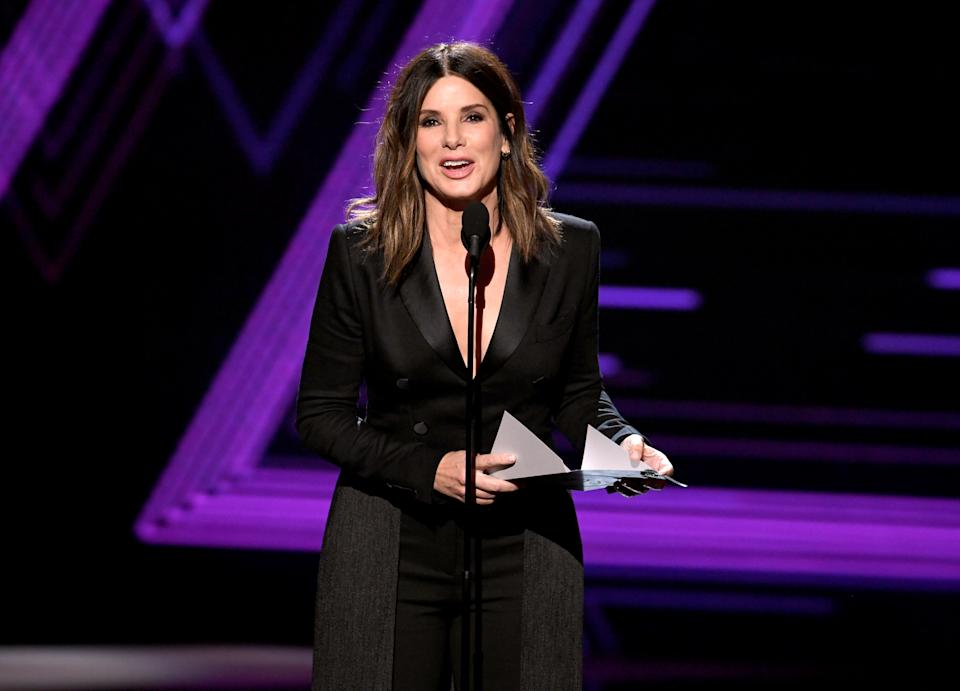 LOS ANGELES, CALIFORNIA - JULY 10: Sandra Bullock speaks onstage during The 2019 ESPYs at Microsoft Theater on July 10, 2019 in Los Angeles, California. (Photo by Kevin Winter/Getty Images)