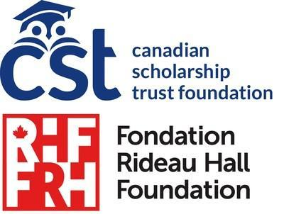 Canadian Scholarship Trust Foundation and Rideau Hall Foundation logos (CNW Group/Canadian Scholarship Trust Foundation)