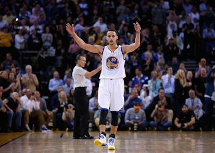 Curry averaged 23.8 points and 7.7 assists this season. (Getty Images)