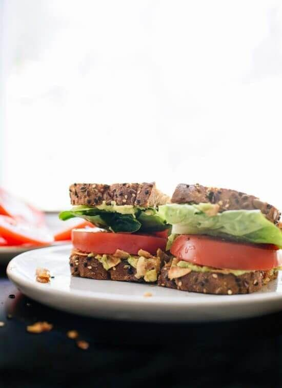 """<p>Okay, so coconut bacon is a thing and it's about to change your life. Trust me.<br></p><p><a class=""""link rapid-noclick-resp"""" href=""""https://cookieandkate.com/vegan-blt-sandwich-recipe/"""" rel=""""nofollow noopener"""" target=""""_blank"""" data-ylk=""""slk:GET THE RECIPE"""">GET THE RECIPE</a></p><p><em>Per serving: 637 calories, 70 g fat (6 g saturated), 59 g carbs, 19 g sugar, 993 mg sodium, 27 g fiber, 17 g protein</em></p>"""