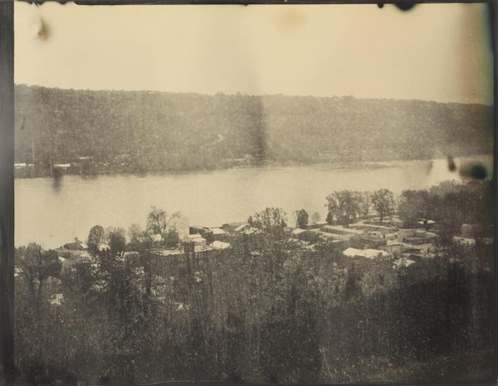 Kentucky and the Ohio River seen from Rankin Hill. The home of abolitionist Rev. John Rankin sat at the top of the hill and was a known stop on the Underground Railroad.