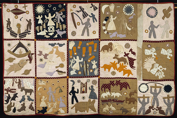A quilt by Harriet Powers (1837-1910) of Athens, Ga. Cotton plain weave, pieced, appliqued, embroidered, and quilted. Museum of Fine Arts, Boston. Bequest of Maxim Karolik. / Credit: © Museum of Fine Arts, Boston