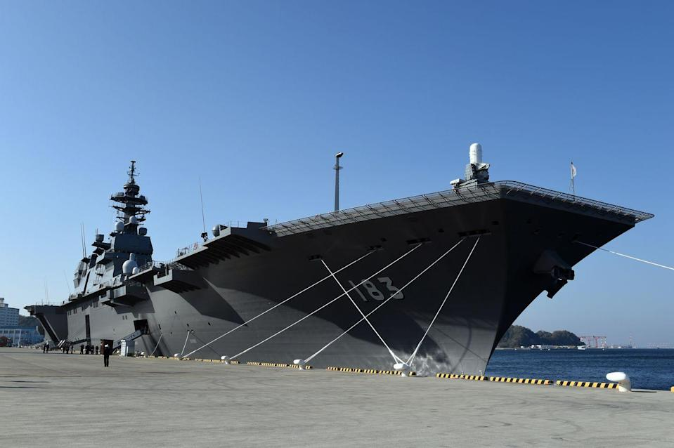 "<p>Once the world's preeminent aircraft carrier power, Japan has three of what it calls ""helicopter destroyers""—aircraft carriers in all but name. </p><p>The country has two helicopter carriers of the <em>Hyuga</em> class. Coming in at 646 feet long and displacing 18,000 tons fully loaded, <em>Hyuga</em> and her sister ship <em>Ise</em> can handle tasks including anti-submarine warfare and amphibious assault. Each can embark up to 10 helicopters, including SH-60 anti-submarine helicopters, <a href=""https://en.wikipedia.org/wiki/AgustaWestland_AW101"" rel=""nofollow noopener"" target=""_blank"" data-ylk=""slk:MCH-101 minehunters"" class=""link rapid-noclick-resp"">MCH-101 minehunters</a>, AH-64 Apache attack helicopters, MV-22 Ospreys, and CH-47 transport choppers. </p><p>More recently, Japan launched the helicopter carrier <em>Izumo</em> (pictured). Approximately 30 percent larger than the older vessels, <em>Izumo</em> is 814 feet long and displaces 27,000 tons. A second ship in the class, <em>Kaga</em>, is currently fitting out. </p>"