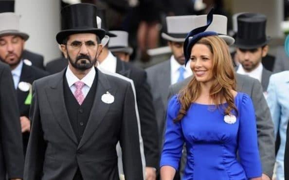 Sheikh Mohammed, 69, who is a billionaire racehorse owner, and his sixth wife Princess Haya - Getty