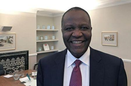 Felix Mutati, Finance Minister of Zambia, poses for a photograph during an interview with Reuters in London, Britain, February 24, 2017. REUTERS/Karin Strohecker