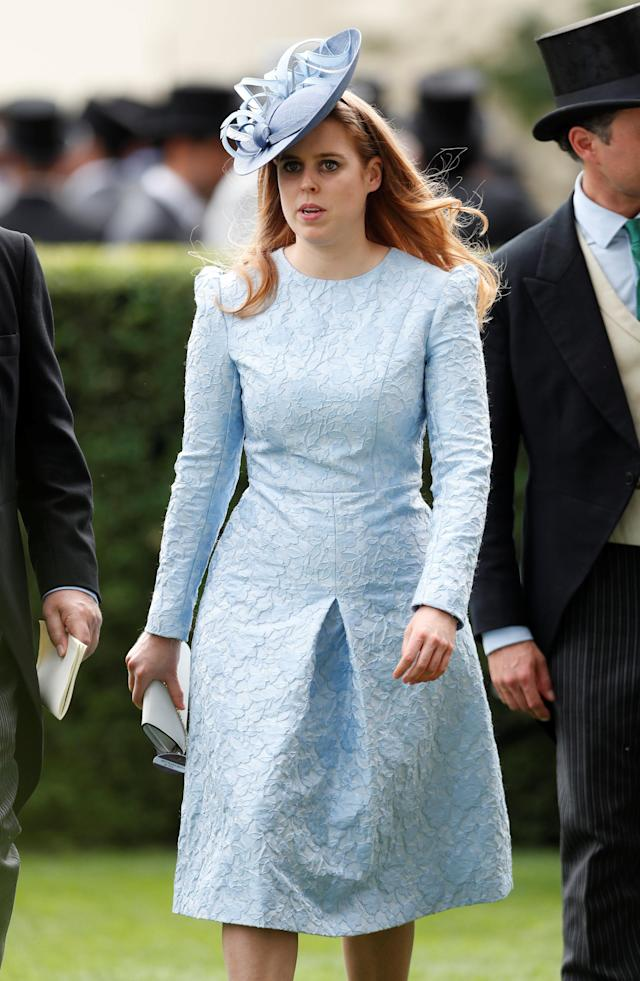 Horse Racing - Royal Ascot - Ascot Racecourse, Ascot, Britain - June 19, 2018 Britain's Princess Beatrice of York during Royal Ascot Action Images via Reuters/Paul Childs