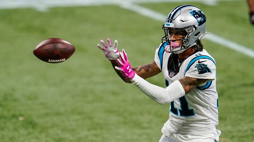 Robby Anderson looks ball into gloves vs. Falcons