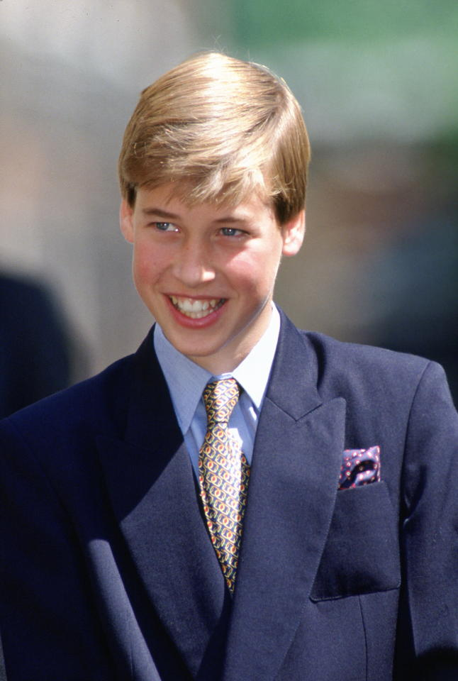 "<div class=""caption-credit""> Photo by: Tim Graham/Getty Images</div><div class=""caption-title""></div>A dashing 13-year-old Prince William smiled for the crowds outside of Queen Elizabeth's 95th birthday celebration. <br>"