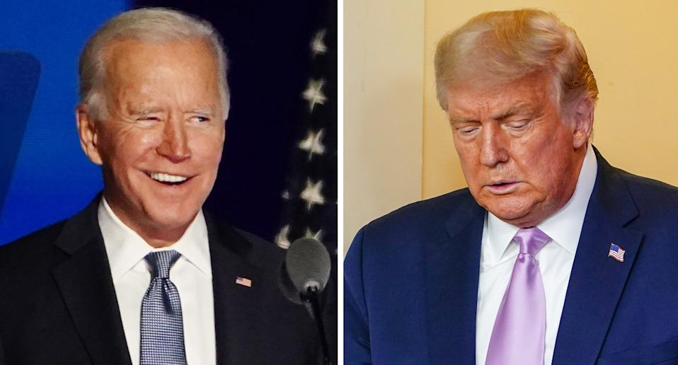 Donald Trump (right) Joe Biden (left)