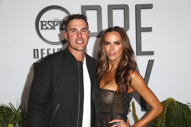 LOS ANGELES, CALIFORNIA - JULY 09: Brooks Koepka and Jena Sims attend the ESPN's The ESPYS Official Pre-Party at Hotel Figueroa on July 09, 2019 in Los Angeles, California. (Photo by Tommaso Boddi/Getty Images)