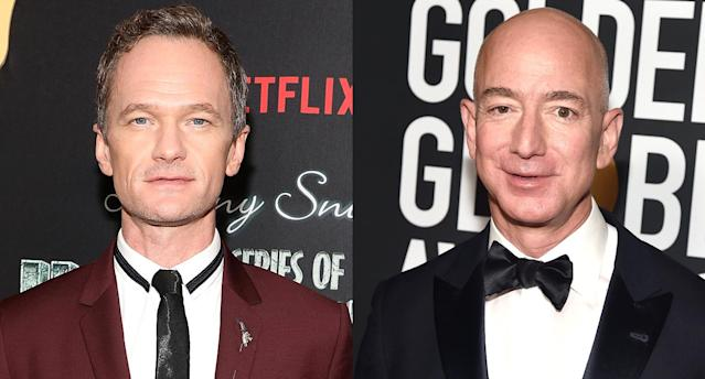 Actor Neil Patrick Harris, left, and Amazon founder and CEO Jeff Bezos. (Photo: Getty Images)