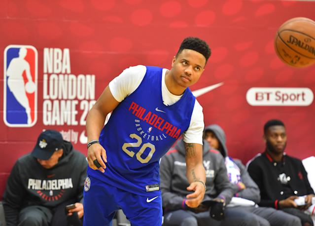 "<a class=""link rapid-noclick-resp"" href=""/ncaab/players/136166/"" data-ylk=""slk:Markelle Fultz"">Markelle Fultz</a> has been back at practice in January, but his jump-shot is still a major cause for concern. (Getty)"