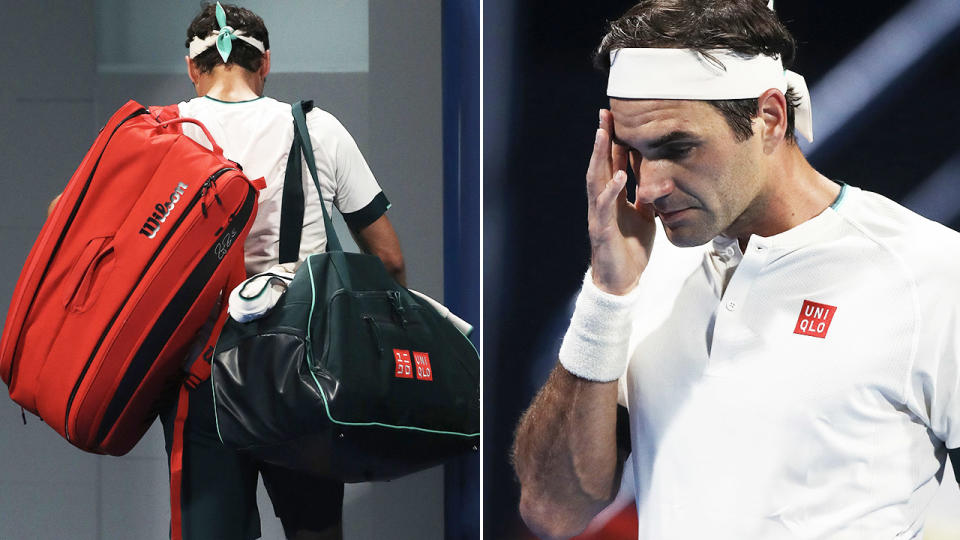 Roger Federer, pictured here during his loss in the Qatar Open quarter-finals.