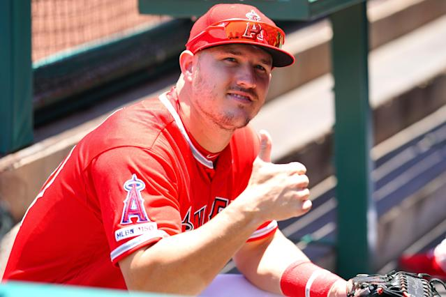 """<a class=""""link rapid-noclick-resp"""" href=""""/mlb/players/8861/"""" data-ylk=""""slk:Mike Trout"""">Mike Trout</a> is pretty good. (Getty Images)"""
