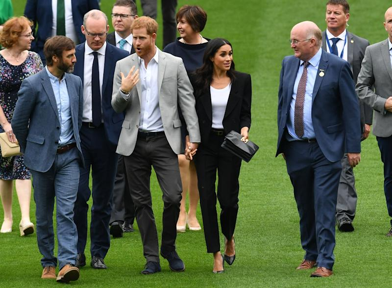 The couple met with officials on the Croke park grounds. [Photo: PA]