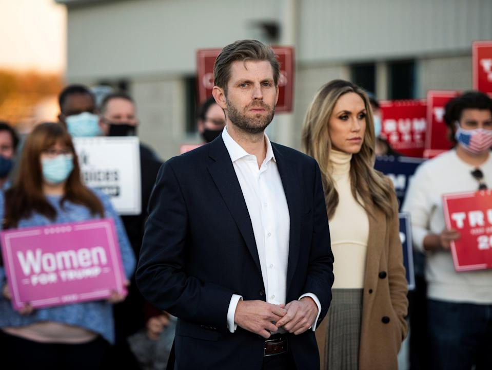 <p>Eric and Lara Trump recently moved to Florida, possibly to help with a Senate run</p> (REUTERS)