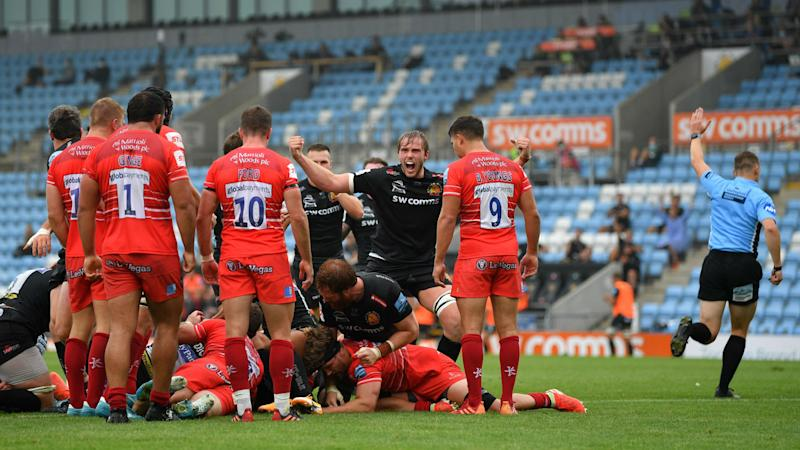 Exeter beat Tigers to extend lead, Bristol see off Sarries to go second