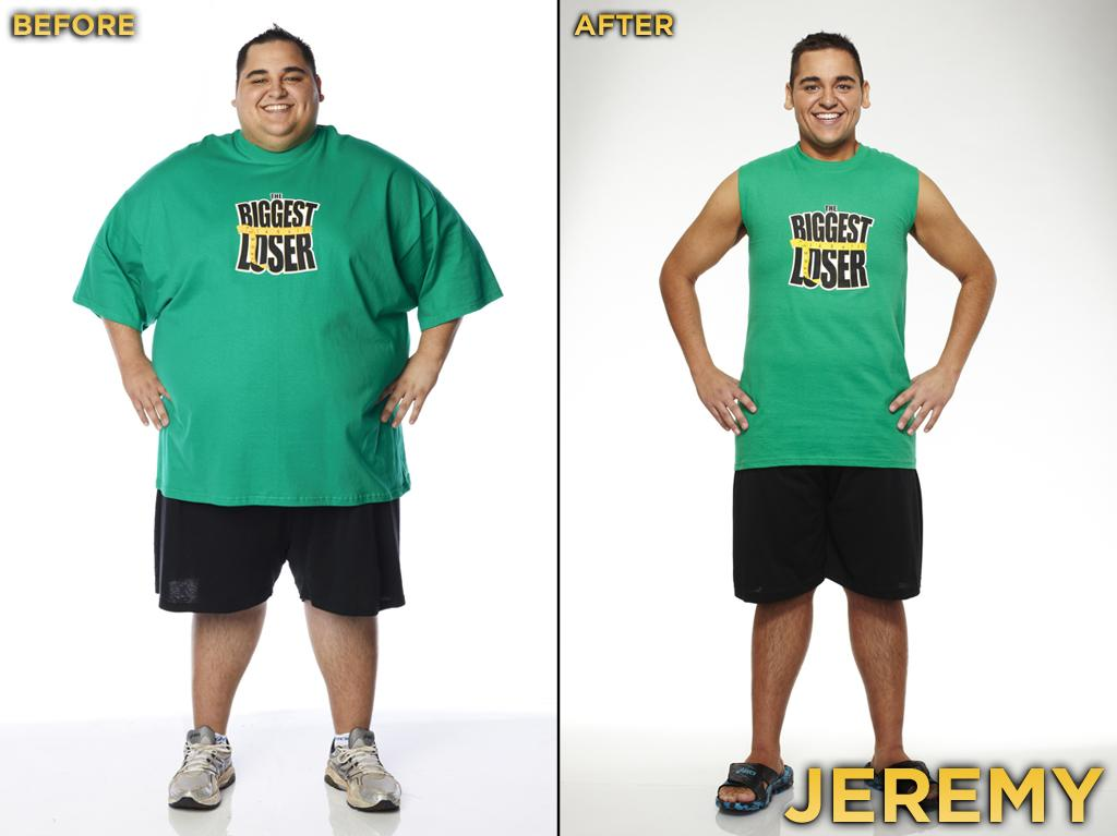 Jeremy looks like a different person! He had all the makings of a potential winner: He was very overweight (highest BMI of the cast), and he's not very tall, so he had a lot to lose. Plus he has a charming personality, which enables many contestants to make it further than those who annoy their peers. Jeremy was second to Kim in weight loss while on the ranch (39%). He started the competition at 389 pounds, weighed 190 pounds at the finale, and thus lost 51.16% during the season.