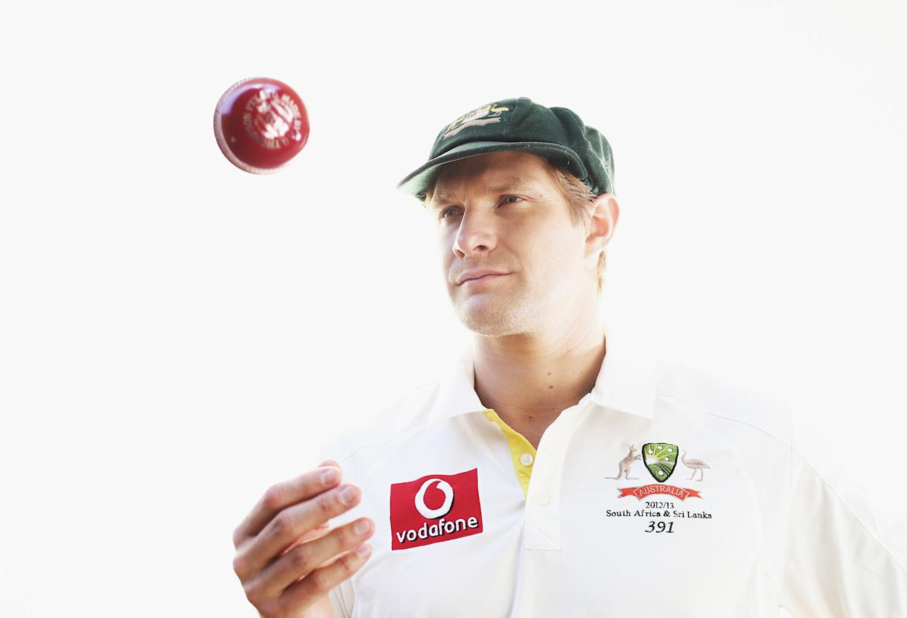 SYDNEY, AUSTRALIA - DECEMBER 20:  Australian cricketer Shane Watson poses during a portrait session at the Sydney Cricket Ground on December 20, 2012 in Sydney, Australia.  (Photo by Ryan Pierse/Getty Images)