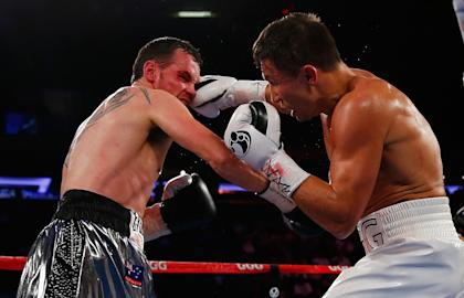 Gennady Golovkin punches Daniel Geale during a middleweight championship bout in July (Getty Images)