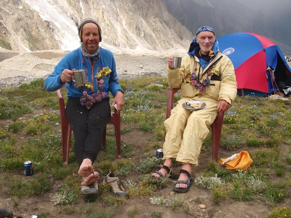 Rick Allen (right), pictured with Sandy Allan, has died while attempting to climb K2, the charity he was raising money for has confirmed (Sandy Allan/PA) (PA Media)