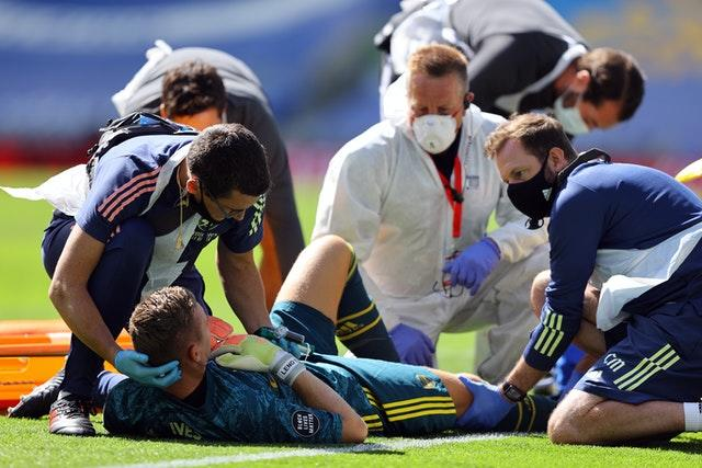 Bernd Leno suffered a serious-looking injury