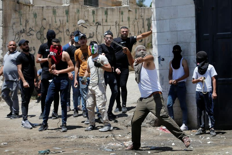 Clashes occur during the funeral of 12-year-old Palestinian boy Mohammad Al Alami in West Bank