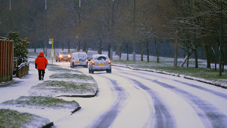 <p>Highways England said the M20 in Kent had become blocked by a number of stranded lorries overnight. (PA) </p>