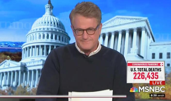TV host Joe Scarborough claimed Donald Trump would 'kill reporters if he could get away with it' like Vladimir Putin. (MSNBC)