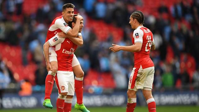<p>Against Middlesborough in their last Premier League game, Arsene Wenger opted to play a back three of Gabriel, Holding and Koscielny, with Monreal and Oxlade-Chamberlain on the wings. </p> <br><p>The Frenchman took a risk and stuck with the same formation against Man City – and it paid off. The whole defensive unit looked impressive throughout, with Oxlade-Chamberlain putting in a man of the match performance on the right. </p>