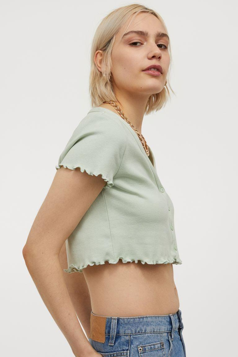 <p>This <span>Button-front Crop Top</span> ($13) is so dainty and sweet.</p>