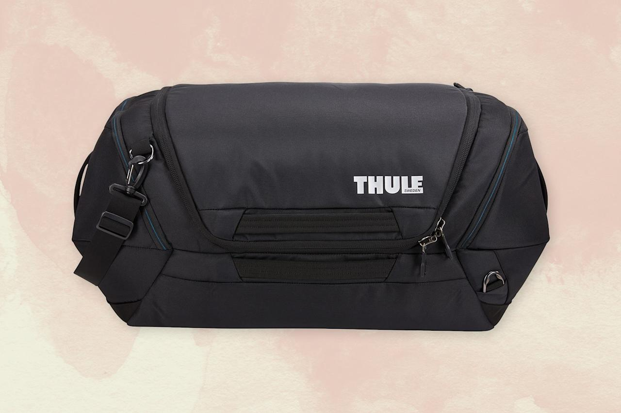 """<p>If you're a duffel fan, then brace yourself for Thule deals galore. The <a href=""""https://www.cntraveler.com/gallery/places-to-visit-in-sweden-that-arent-stockholm?mbid=synd_yahoo_rss"""">Swedish</a> brand is known for creating simple but sturdy bags you can carry, and this 60-liter waterproof duffel is one of their most versatile. The bag seems straightforward enough from the outside, but the real appeal is the interior organization—it's one of those bags that makes you realize they thought of everything, without going overboard. Inside, at the top of the bag, is a mesh pocket for easy-to-grab items. You'll also find shoe compartments on either end of the bag, so dirty soles don't touch clean clothing, and there's an exterior zip pocket meant to lay against your body, so you can feel comfortable putting your cell or passport in it. And, if toting a 60-liter duffel intimidates you, know that the adjustable shoulder strap has serious padding.</p> <p><strong>Buy now:</strong> $128 (originally $160), <a href=""""https://click.linksynergy.com/deeplink?id=mcB7N8bf3MY&mid=1237&u1=nordstromblackfriday2019&murl=https%3A%2F%2Fshop.nordstrom.com%2Fs%2Fthule-subterra-60-liter-duffle-bag%2F5397522%2Ffull"""" rel=""""nofollow"""">nordstrom.com</a></p>"""