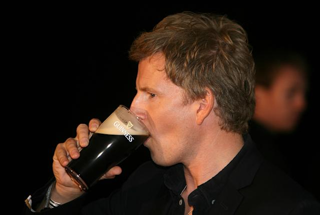 Patrick Kielty at the 250th Anniversary of Guinness Concert, sipping something he's unlikely to find easily in LA. (Press Association)