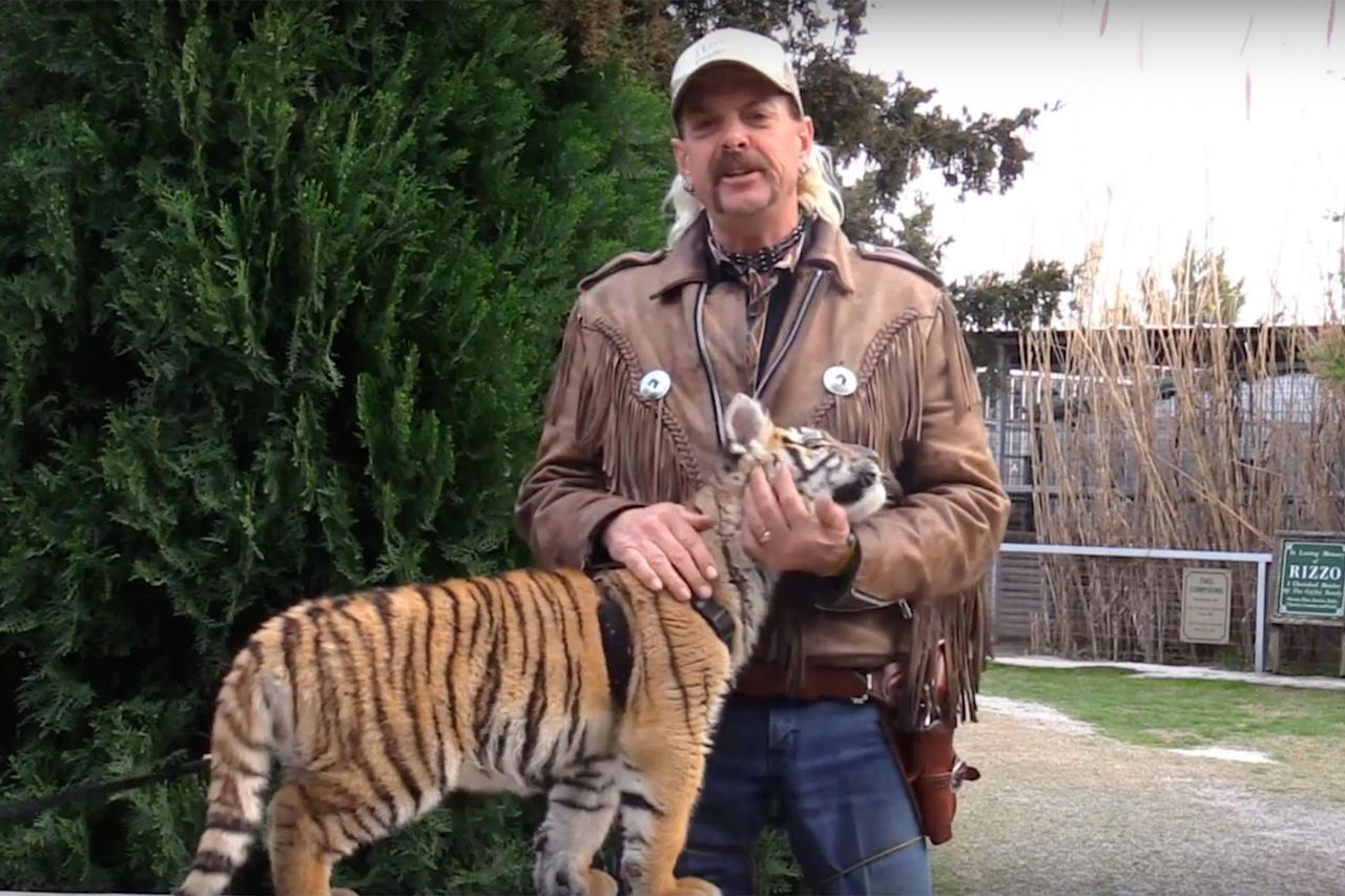 "<p>Joe Exotic was found guilty in 2019 for paying a hitman $3,000 to kill his rival, <a href=""https://people.com/crime/joe-exotic-animal-activist-murder-for-hire/"">Carole Baskin</a>, an animal activist and big-cat lover who runs a sanctuary called the Big Cat Rescue in Tampa, Florida. The hit did not go through, and  he is currently serving 22 years for the attempted murder plot.</p> <p>Joe was also found guilty of killing tigers to make room for more big cats at his exotic animal park in Oklahoma.</p> <p>Since the release of the docuseries, he has filed a federal lawsuit against various government agencies, as well as his former business partner. In his complaint, he is seeking $94 million in damages.</p> <p>According to the lawsuit obtained by PEOPLE, the former zookeeper and country music singer claimed $73,840,000 is for loss of personal property; 18 years of research; and care of 200 generic tigers and cross-breeds for 365 days a year, at a boarding rate of $60/day per animal.</p> <p>The additional $15 million is for false arrest, false imprisonment, selective enforcement and the death of his mother, Shirley.</p> <p>The lawsuit, which was filed against the U.S. Department of Interior, the U.S. Fish and Wildlife Service and government agents, accuses them of violating his civil rights.</p>"