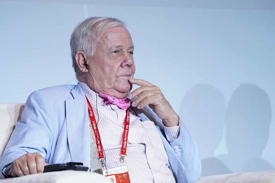 Jim Rogers speaks at the Boao Forum for Asia Annual Conference 2018 on April 11, 2018 in Boao, China. <em>Photo by VCG/VCG via Getty</em>