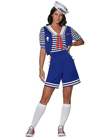 "<p>You won't look like a dingus in this <a href=""https://www.popsugar.com/buy/Adult%20Robin%20Scoops%20Ahoy%20Costume-470019?p_name=Adult%20Robin%20Scoops%20Ahoy%20Costume&retailer=spirithalloween.com&price=50&evar1=buzz%3Aus&evar9=46398848&evar98=https%3A%2F%2Fwww.popsugar.com%2Fentertainment%2Fphoto-gallery%2F46398848%2Fimage%2F46398901%2FAdult-Robin-Scoops-Ahoy-Costume&list1=tv%2Challoween%2Cstranger%20things&prop13=api&pdata=1"" rel=""nofollow"" data-shoppable-link=""1"" target=""_blank"" class=""ga-track"" data-ga-category=""Related"" data-ga-label=""https://www.spirithalloween.com/product/tv-movies-gaming/tv/stranger-things/adult-robin-scoops-ahoy-costume-stranger-things/pc/1382/c/3811/sc/4294/176996.uts"" data-ga-action=""In-Line Links"">Adult Robin Scoops Ahoy Costume</a> ($50).</p>"
