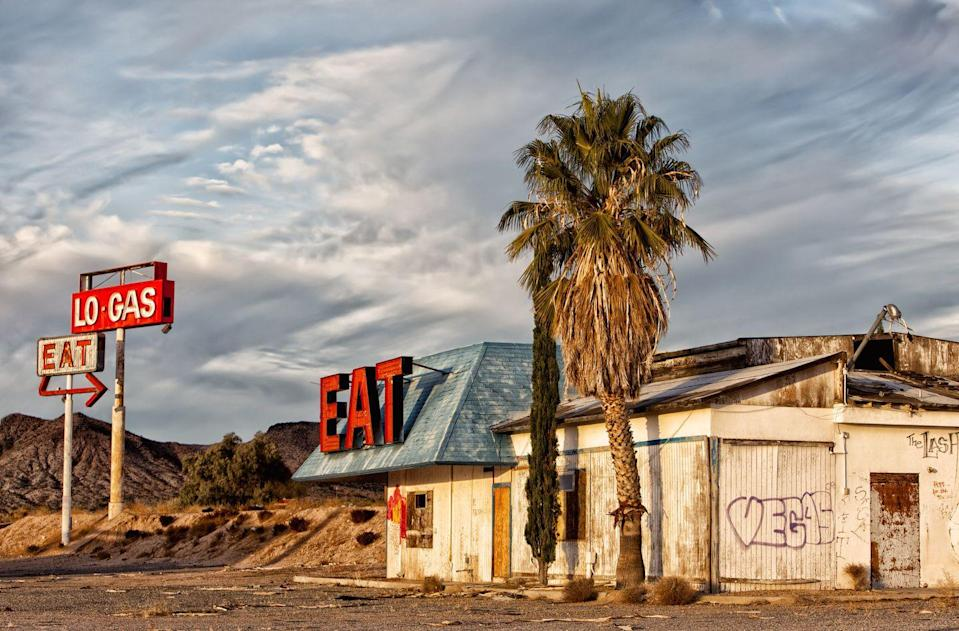 <p>The kitchen is closed at this old diner that sits on the outskirts of Vegas.</p>