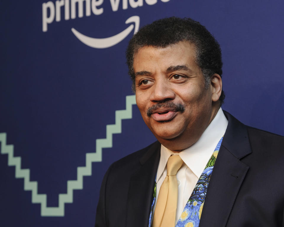 "FILE - In this May 13, 2019, file photo, astrophysicist Neil Degrasse Tyson attends the 23rd annual Webby Awards at Cipriani Wall Street in New York. The Nobel Prizes starting Monday, Oct. 5, 2020, show how slow basic science pays off, even though everyone wants quick fixes to global problems. ""Maybe with a new discovery in science in a way that affects your life outcomes, the TV commercials say, 'Did you know this? This thing that you're using was invented here in this lab by this person. And it was brought to market by this company. And now you're using it and enjoying it.' Stop in silence. 'You're welcome.'""(Photo by Christopher Smith/Invision/AP, File)"