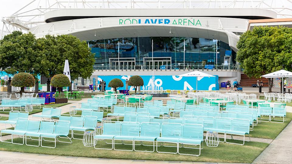 The Melbourne Park grounds, pictured here at the Australian Open.