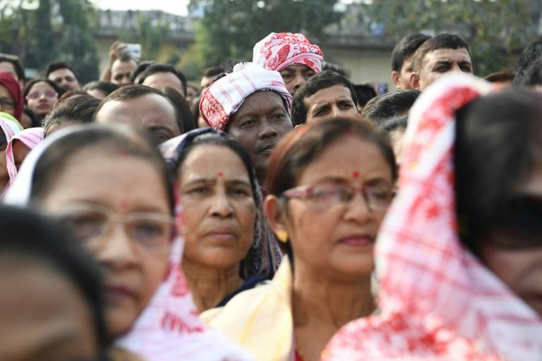 Demonstrators take part in a concert in Guwahati to protest against India's new contentious citizenship law