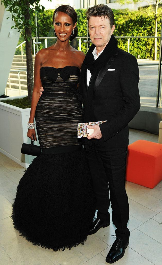 Iman and David Bowie, seen here at the 2010 CFDA Fashion Awards in 2010, were always a dashing pair. (Photo: Dimitrios Kambouris/Getty Images)