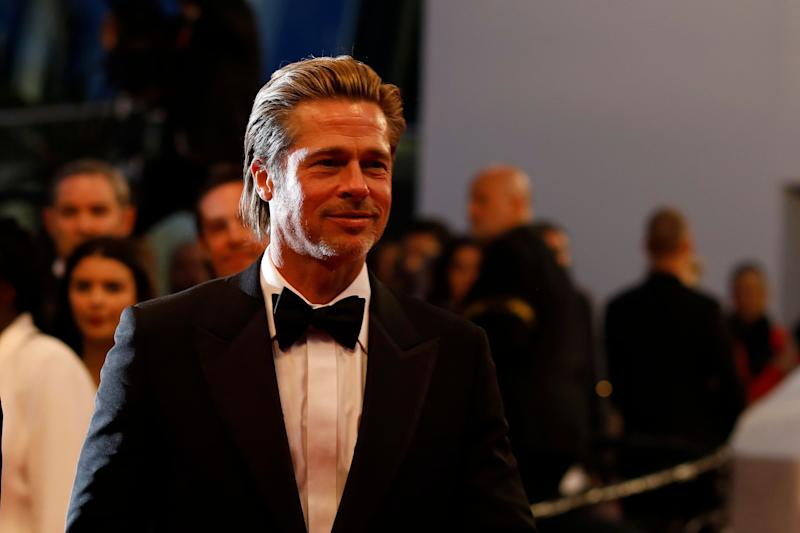 Actor Brad Pitt poses for photographers upon departure from the premiere of the film 'Once Upon a Time in Hollywood' at the 72nd international film festival, Cannes, southern France, Tuesday, May 21, 2019. (AP Photo/Petros Giannakouris)
