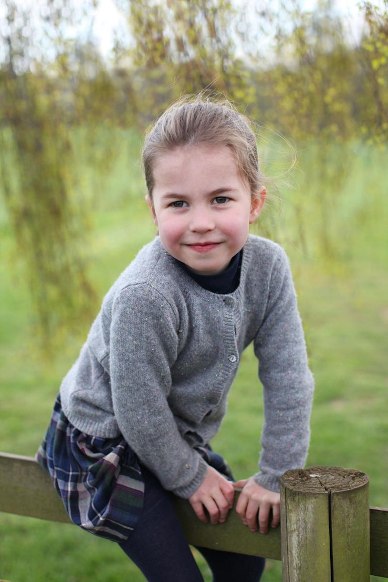 Princess Charlotte pictured at her parents' Norfolk home in April [Photo: The Duchess of Cambridge]