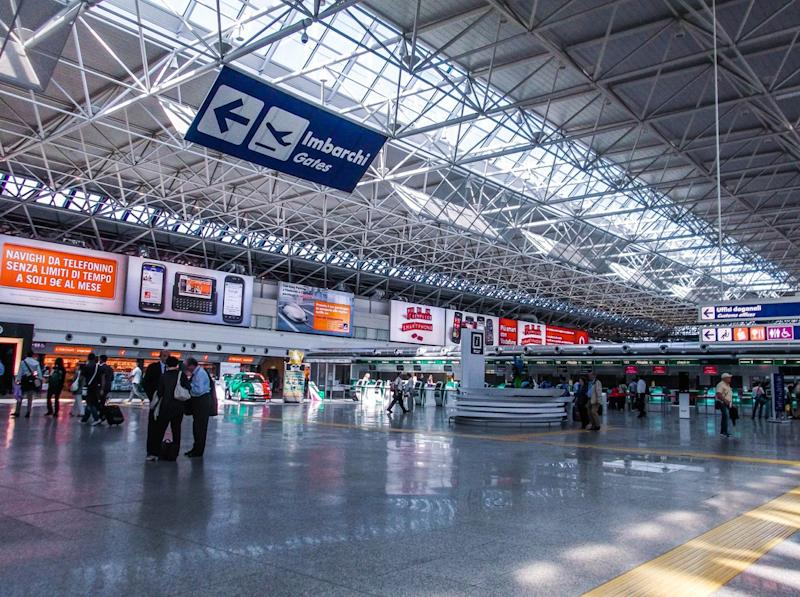 Rome Fiumicino Airport is the first to be awarded with five star rating for its Covid-19 procedure (Getty Images)