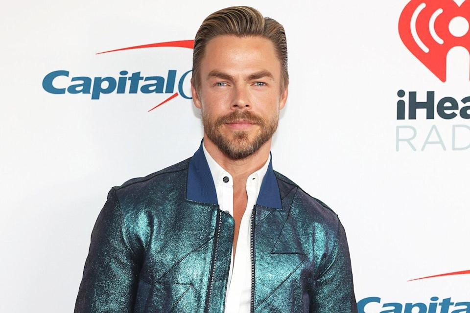 Derek Hough is seen backstage at the 2021 iHeartRadio Music Festival on September 18, 2021 at T-Mobile Arena in Las Vegas, Nevada.