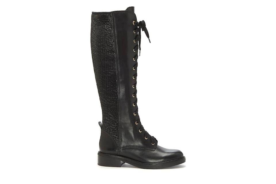 Louise et Cie, Voshell Tall Combat Boot, Black Boots